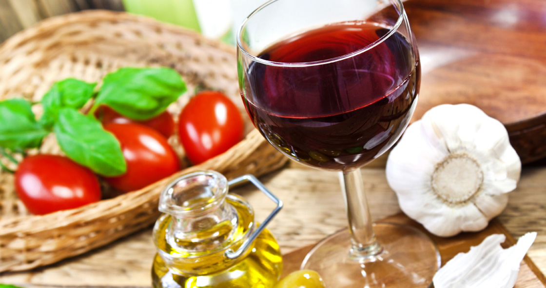 Κρασί και ντομάτες