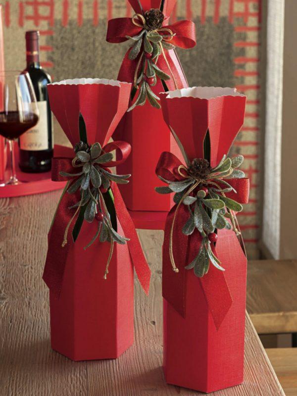 Θήκη δώρου 1 φιάλης κρασιού Seta Rosso