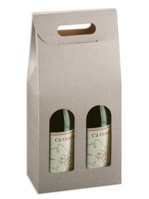 Τσάντα δώρου 2 φιαλών Linea Tortora
