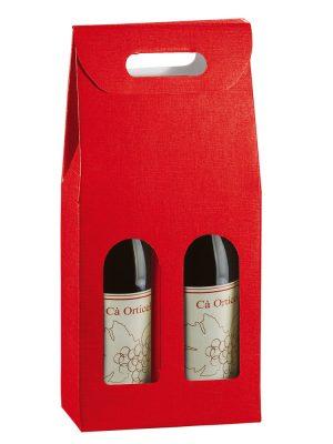 Τσάντα δώρου 2 φιαλών Seta Rosso