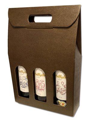 Τσάντα δώρου 3 φιαλών κρασιού