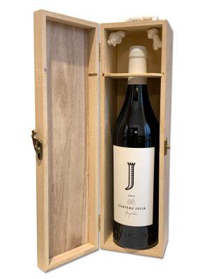 Ξύλινο κουτί 1 φιάλης κρασιού
